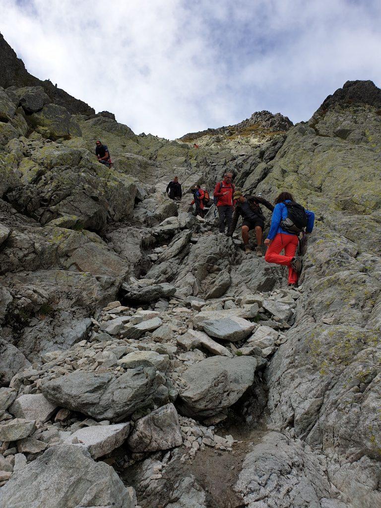 Výstup do sedla Prielom z Veľkej Studenej doliny