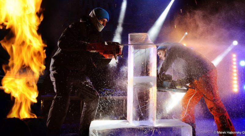 Z obrovských kusov ľadu na Hrebienku vykúzlia majstrovské diela