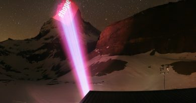 © Light Art by Gerry Hofstetter / Foto Zermatt Tourismus